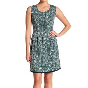 Max Studio Patterned Sleeveless Fit &Flare Dress